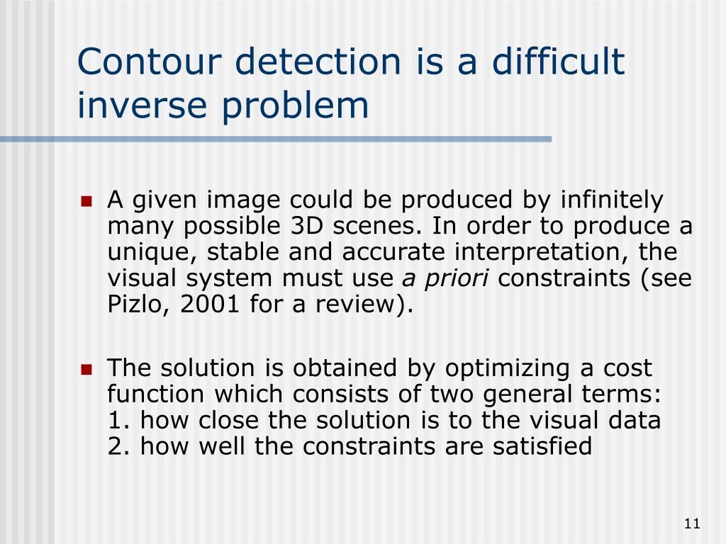 Contour detection is a difficult inverse problem