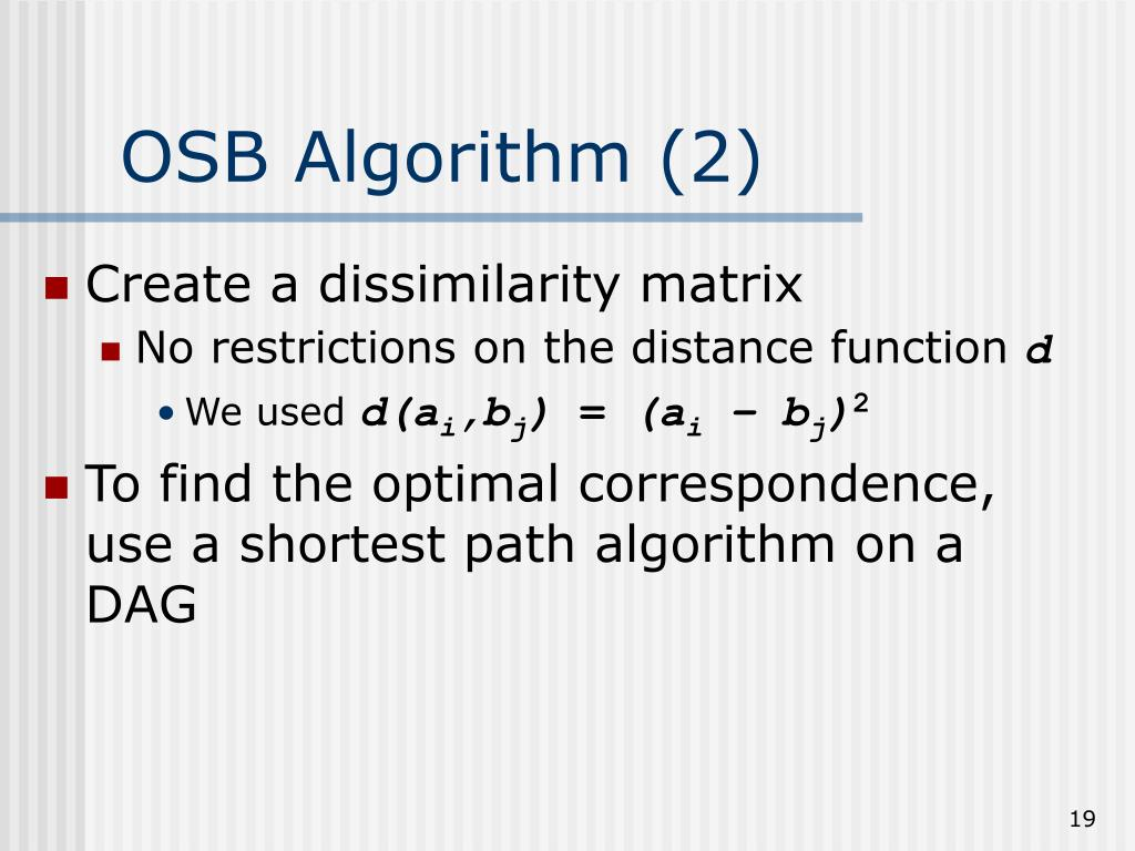 OSB Algorithm (2)