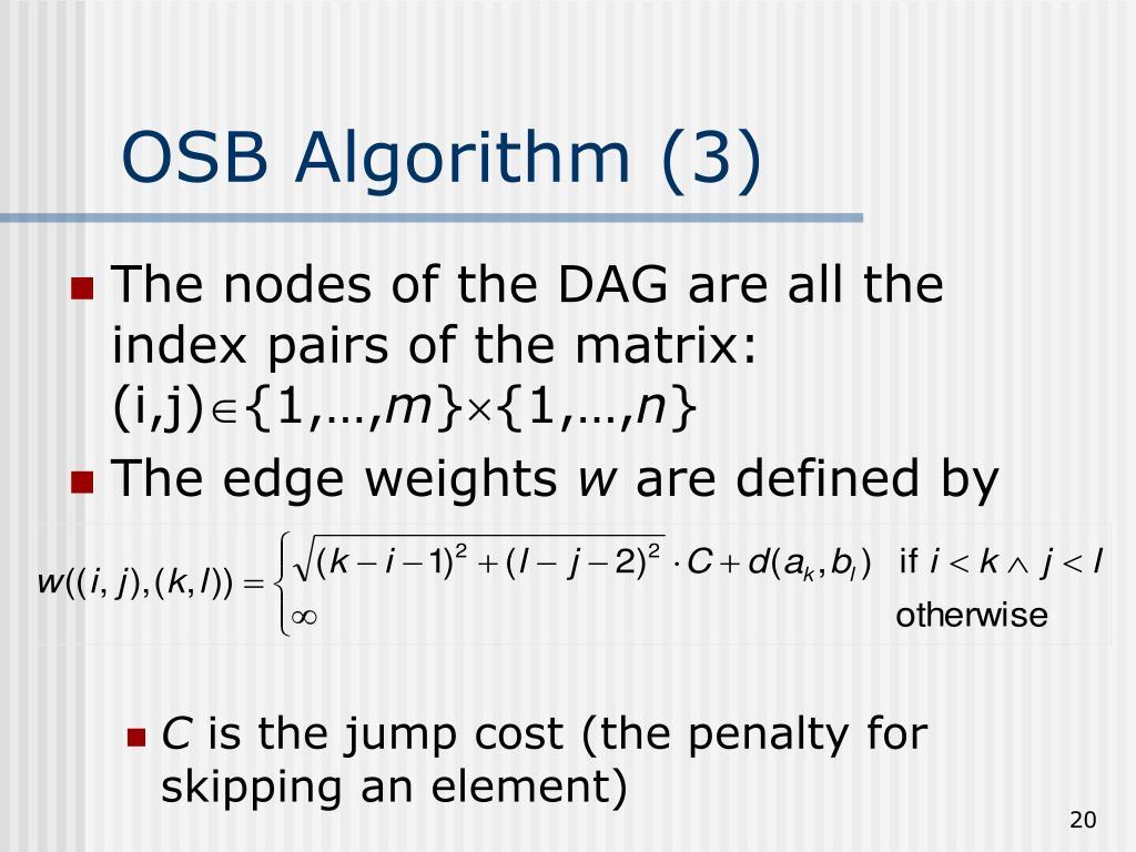 OSB Algorithm (3)