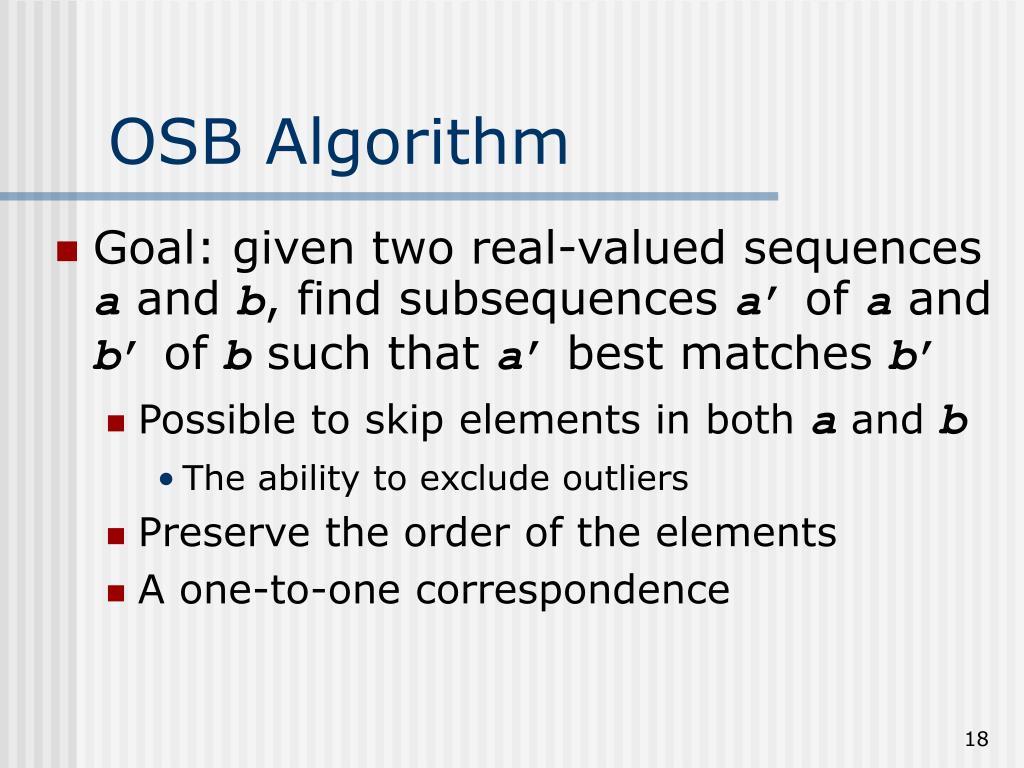 OSB Algorithm