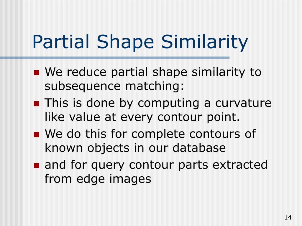 Partial Shape Similarity