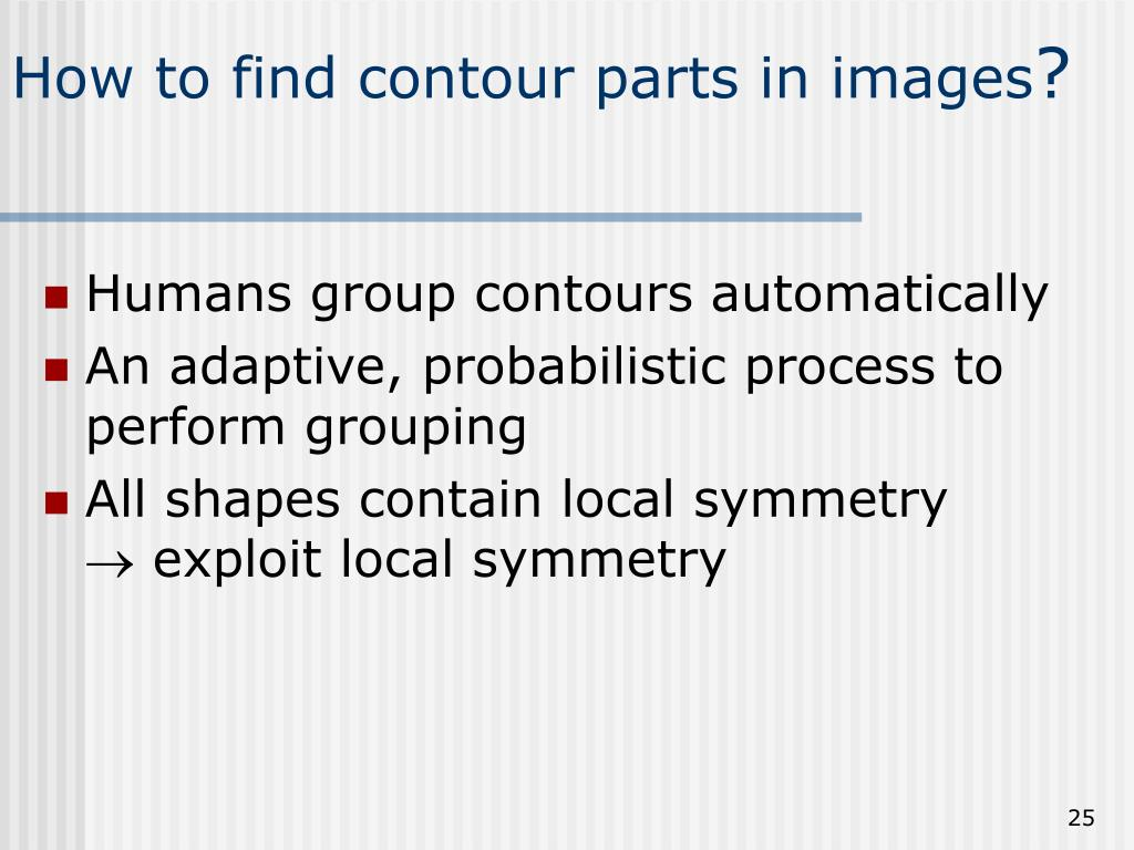 How to find contour parts in images