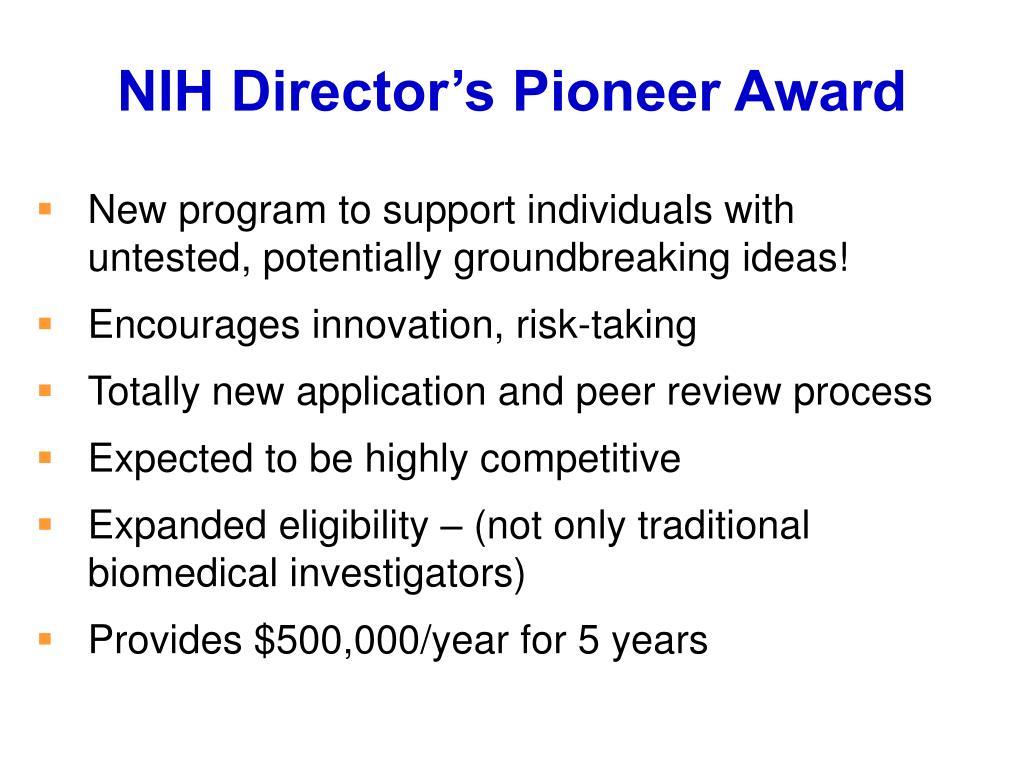 NIH Director's Pioneer Award