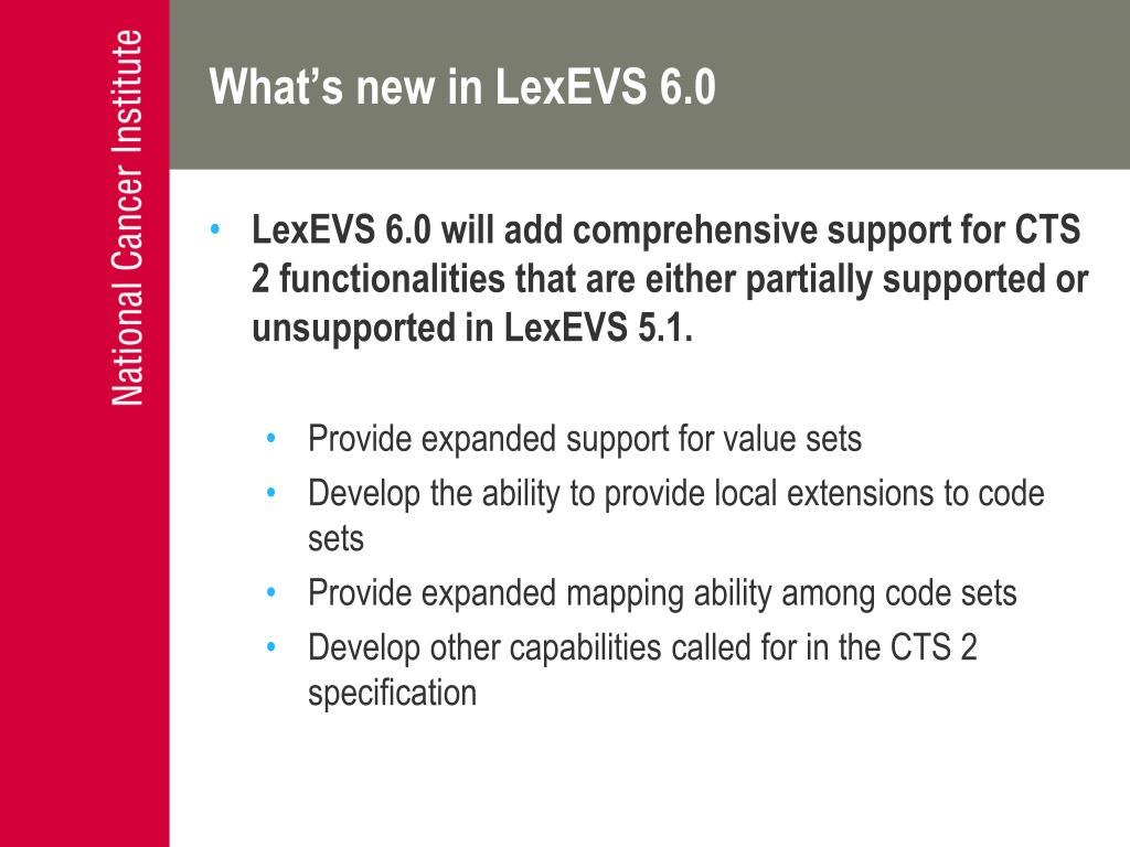 What's new in LexEVS 6.0