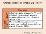 characteristics of a formative experiment