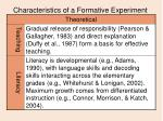 characteristics of a formative experiment10
