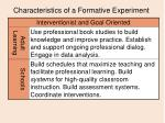 characteristics of a formative experiment11