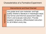 characteristics of a formative experiment12