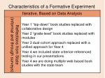 characteristics of a formative experiment13