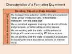 characteristics of a formative experiment14