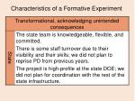 characteristics of a formative experiment16