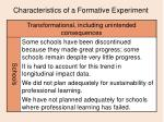 characteristics of a formative experiment17