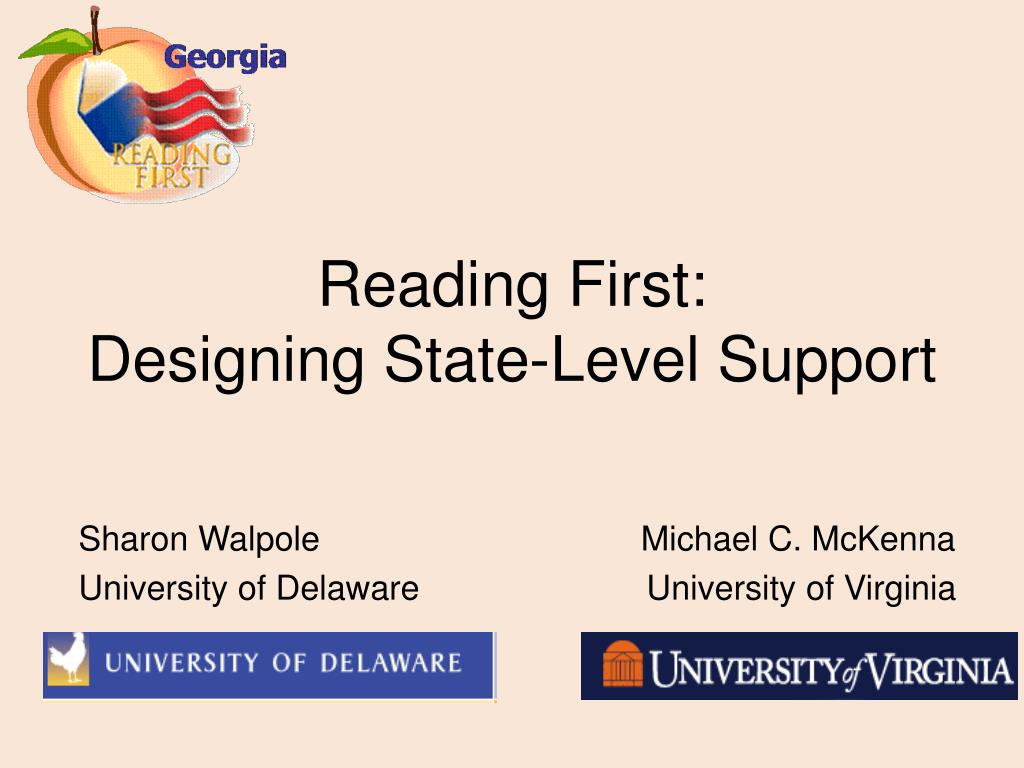 reading first designing state level support