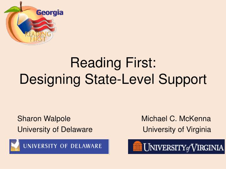 reading first designing state level support n.