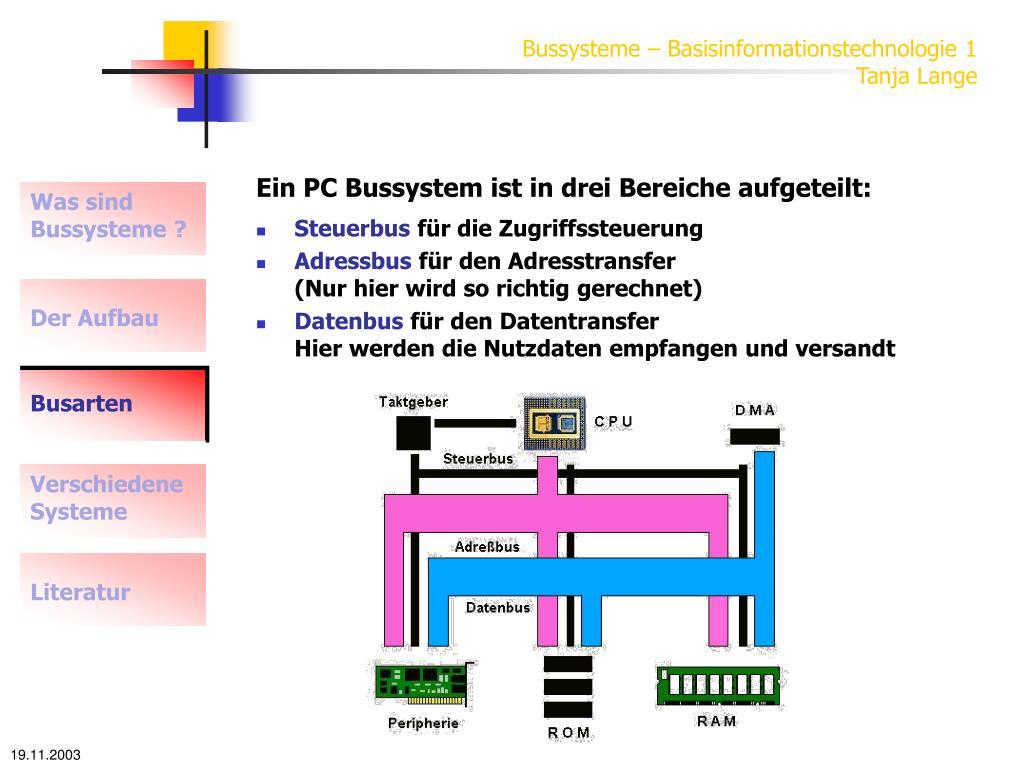 Bussysteme – Basisinformationstechnologie 1