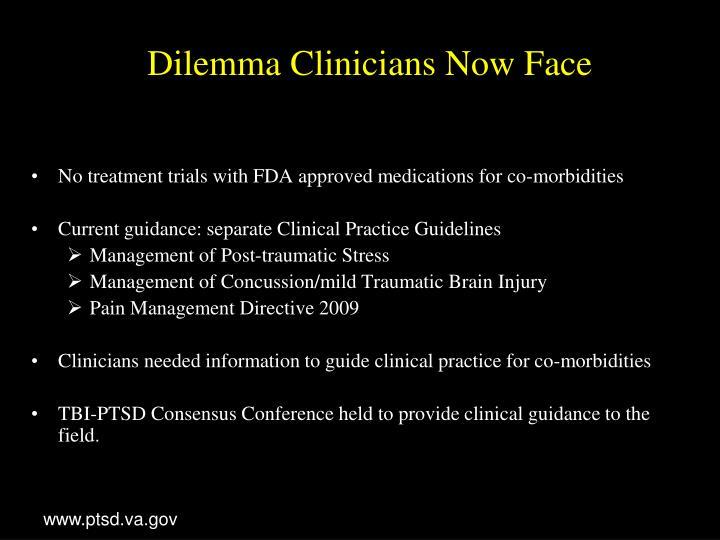 Dilemma Clinicians Now Face