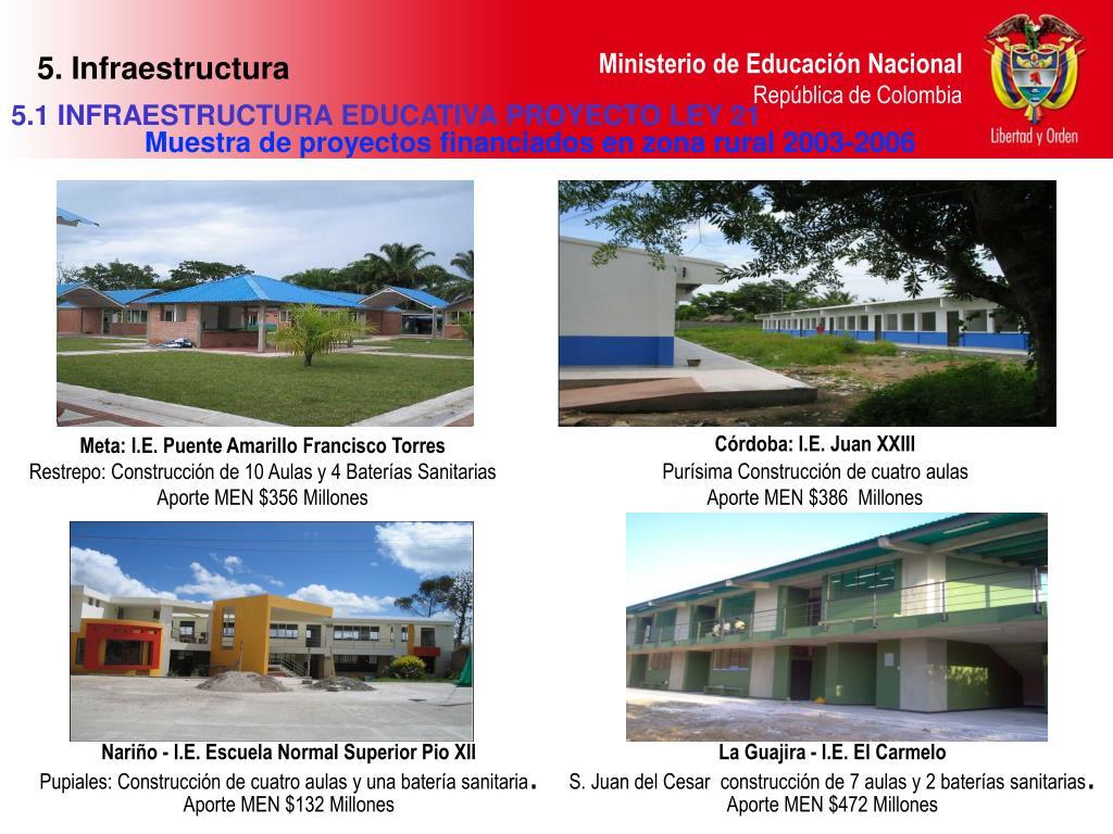 5. Infraestructura