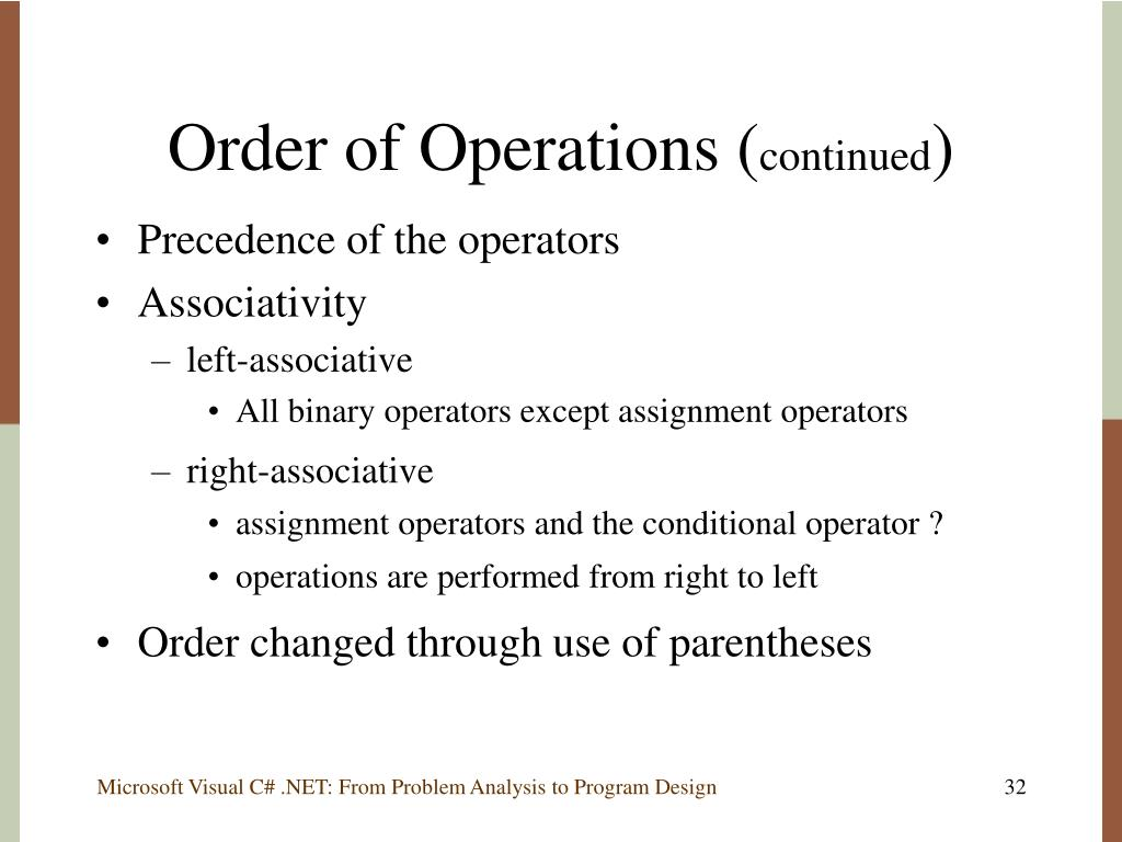 Order of Operations (
