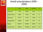 antall arbeidstakere 1995 2000
