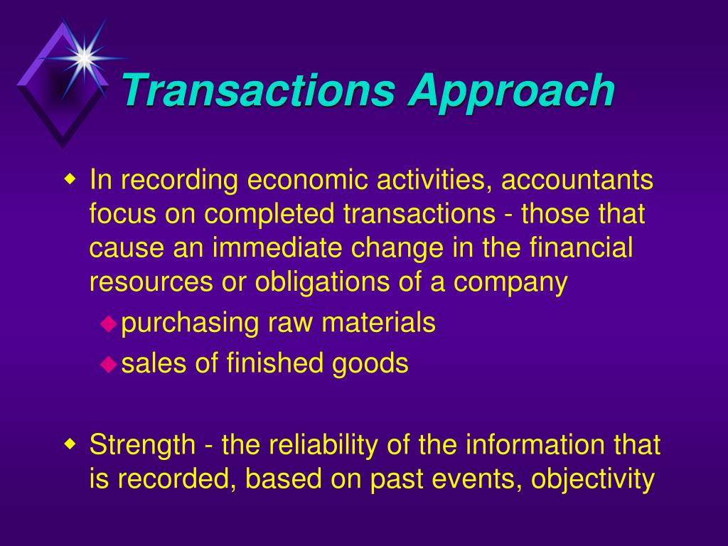 Transactions Approach