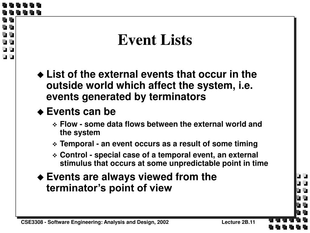 Event Lists