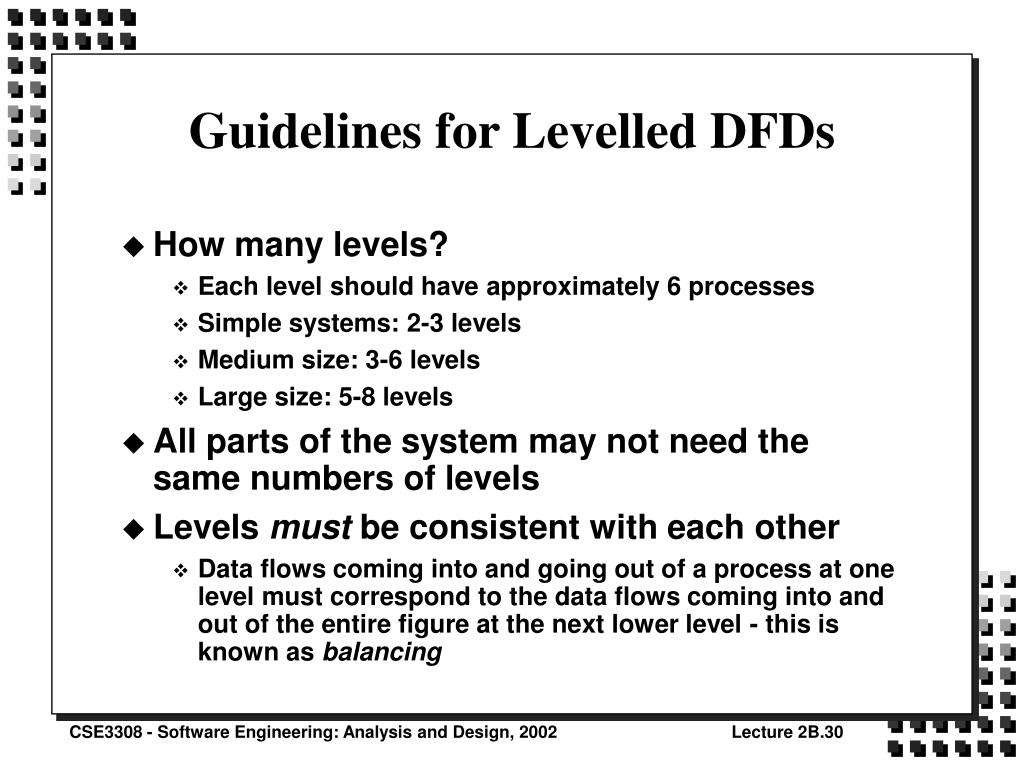 Guidelines for Levelled DFDs