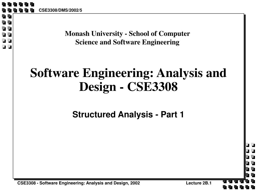 Ppt Software Engineering Analysis And Design Cse3308 Powerpoint Presentation Id 552067