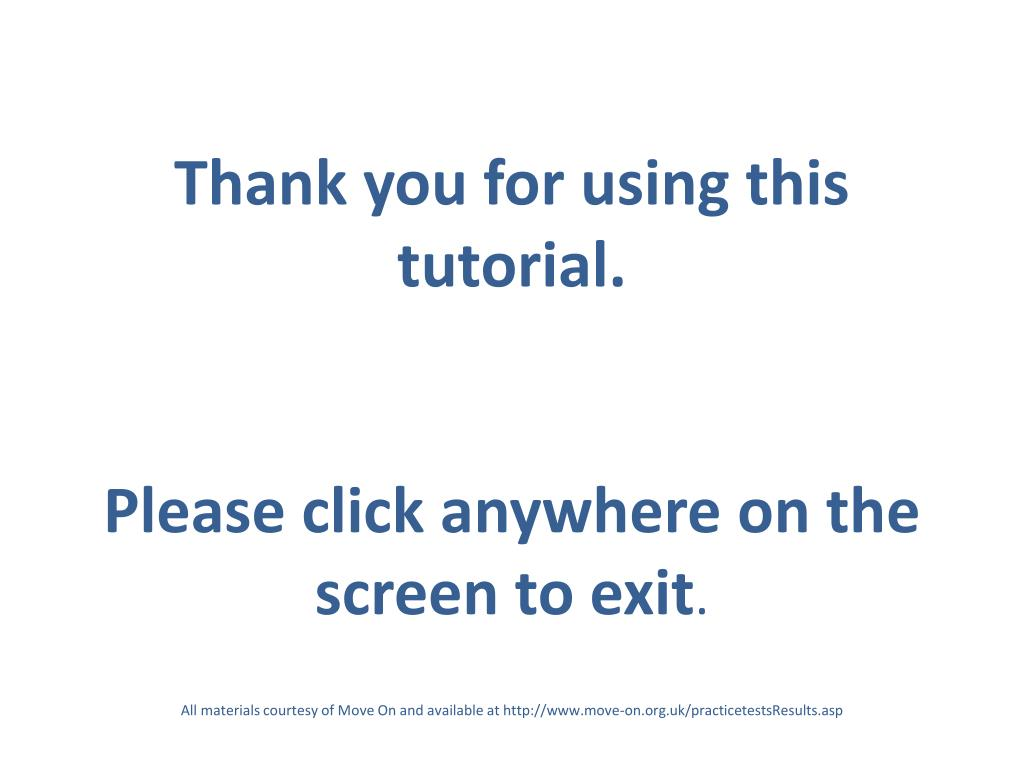 Thank you for using this tutorial.