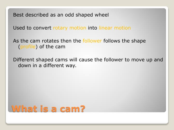 What is a cam