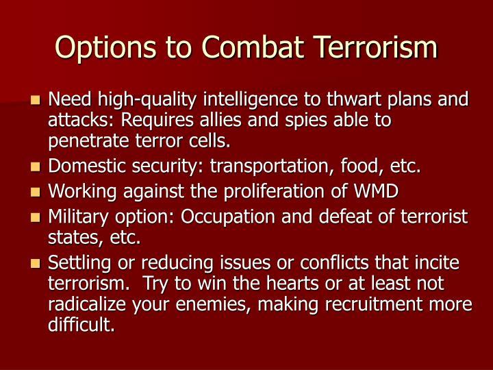 Options to Combat Terrorism