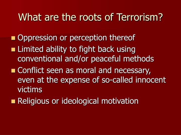 What are the roots of Terrorism?