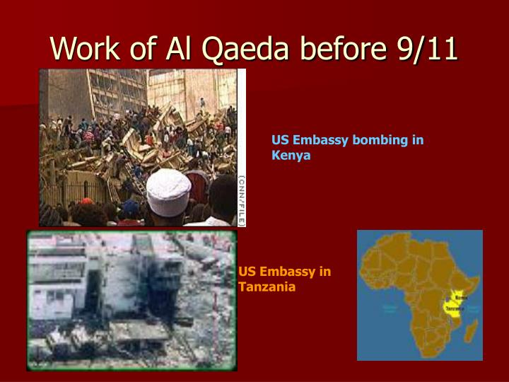 Work of Al Qaeda before 9/11