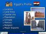 egypt s profile