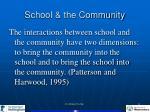 school the community