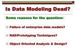 is data modeling dead