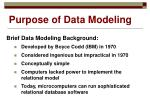purpose of data modeling