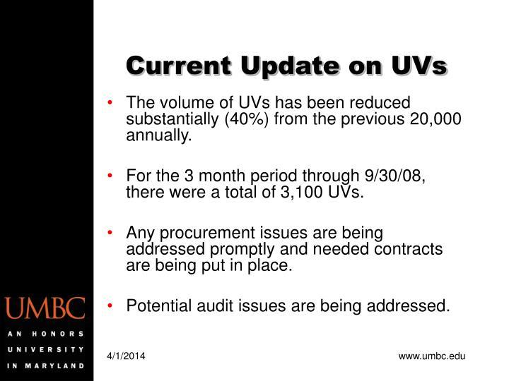 Current update on uvs