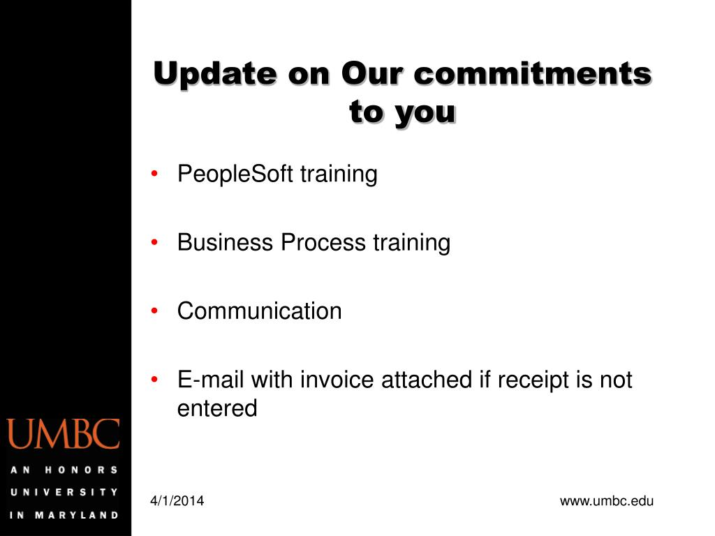 Update on Our commitments to you