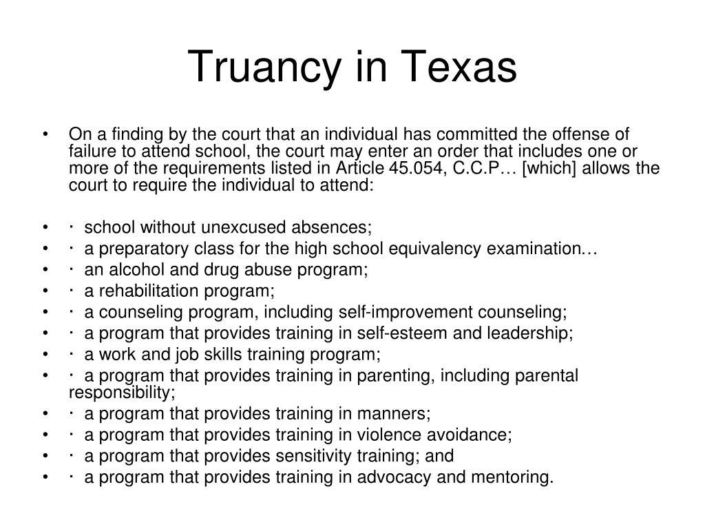 Truancy in Texas