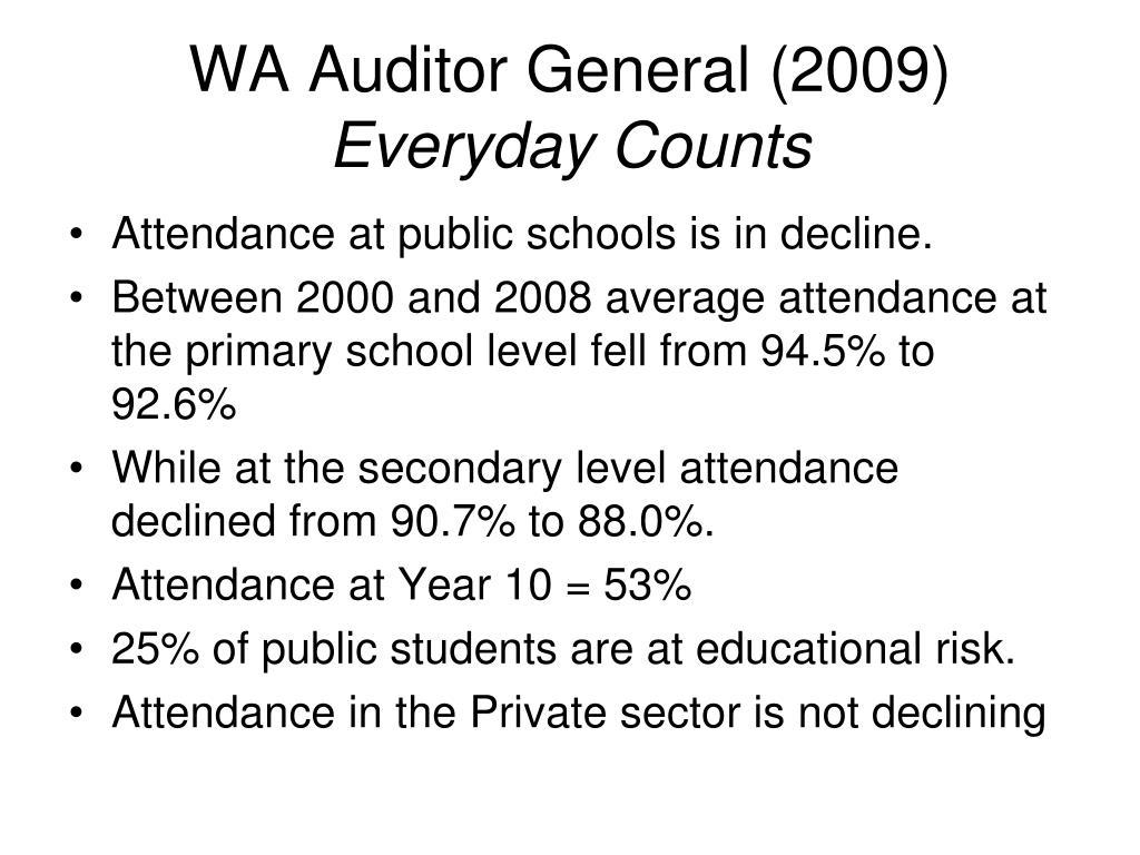 WA Auditor General (2009)