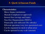 5 qard al hassan funds