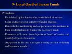 9 local qard al hassan funds