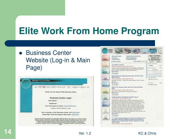 Elite Work From Home Program