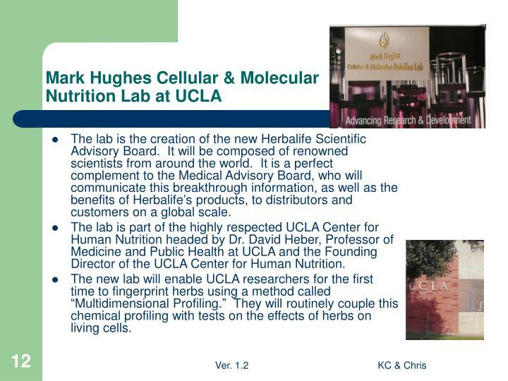 Mark Hughes Cellular & Molecular Nutrition Lab at UCLA