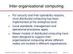 inter organisational computing