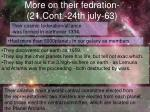 more on their fedration 21 cont 24th july 63