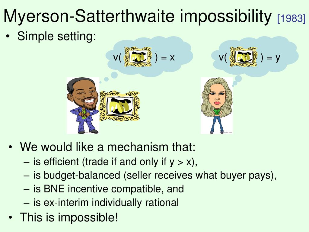 Myerson-Satterthwaite impossibility