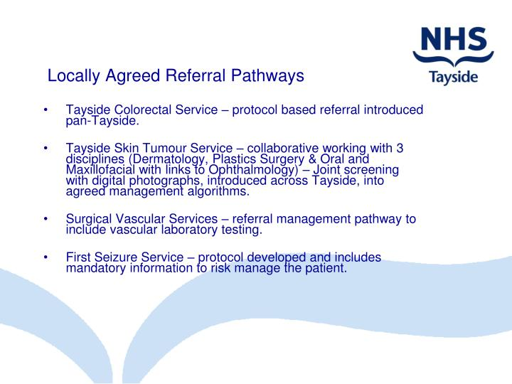 Locally Agreed Referral Pathways