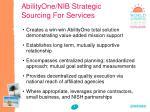 abilityone nib strategic sourcing for services