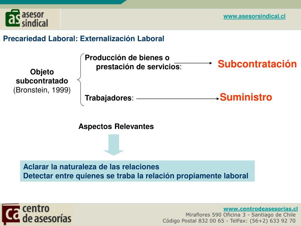 Producción de bienes o prestación de servicios
